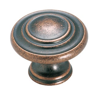 Inspirations Weathered Copper 1-5/16-inch (33mm) Diameter Knob