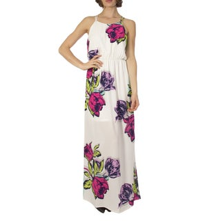 JED Women's Ivory Floral Tank Maxi Dress
