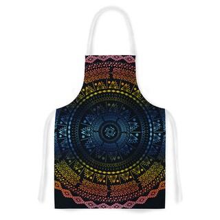 Famenxt 'Night Queen Boho Mandala' Multicolor Illustration Artistic Apron