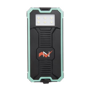 ZBANK 12000mAh Ultra-Compact High Speed Portable Solar Charger With Dual Output and LED indicator - Turquoise