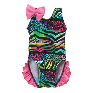 Dippin' Daisy's Infant/Toddler Multicolor Safari Ruffled 1-piece Swimsuit|https://ak1.ostkcdn.com/images/products/14485877/P21044842.jpg?impolicy=medium