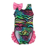 Dippin' Daisy's Infant/Toddler Multicolor Safari Ruffled 1-piece Swimsuit