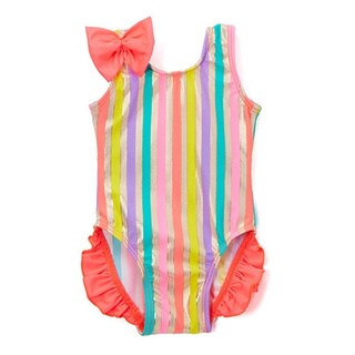 Famous Maker Infant and Toddler's Multi Goldie One Piece with Ruffles