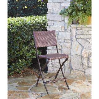 COSCO Outdoor Living Transitional 3-piece Delray Steel Woven Wicker High Top Bistro Set