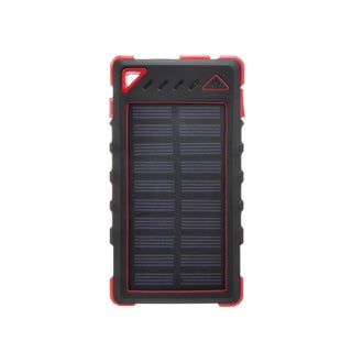 ZBANK 8000mAh Ultra-Compact High Speed Portable Solar Charger With Dual Output and LED indicator - Red