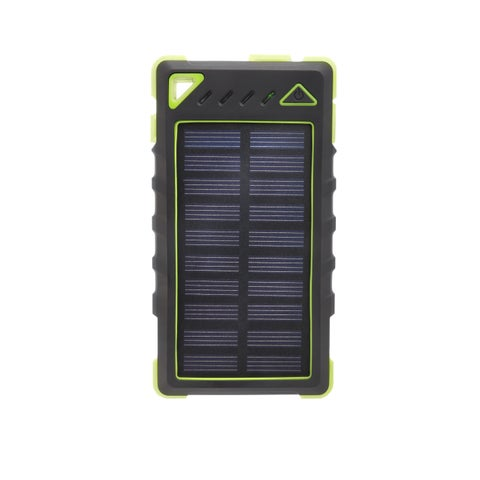ZBANK 8000mAh Ultra-Compact High Speed Portable Solar Charger With Dual Output and LED indicator - Green