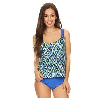 dippinu0027 daisyu0027s blue crystal womens 2piece tankini set