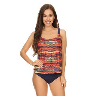Dippin' Daisy's Multi Missoni Womens 2-Piece Over-the-Shoulder Tankini Set