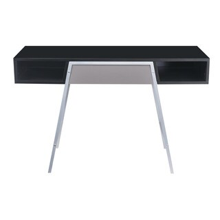 Emerald Home Modern Home Black and Steel Writing Desk