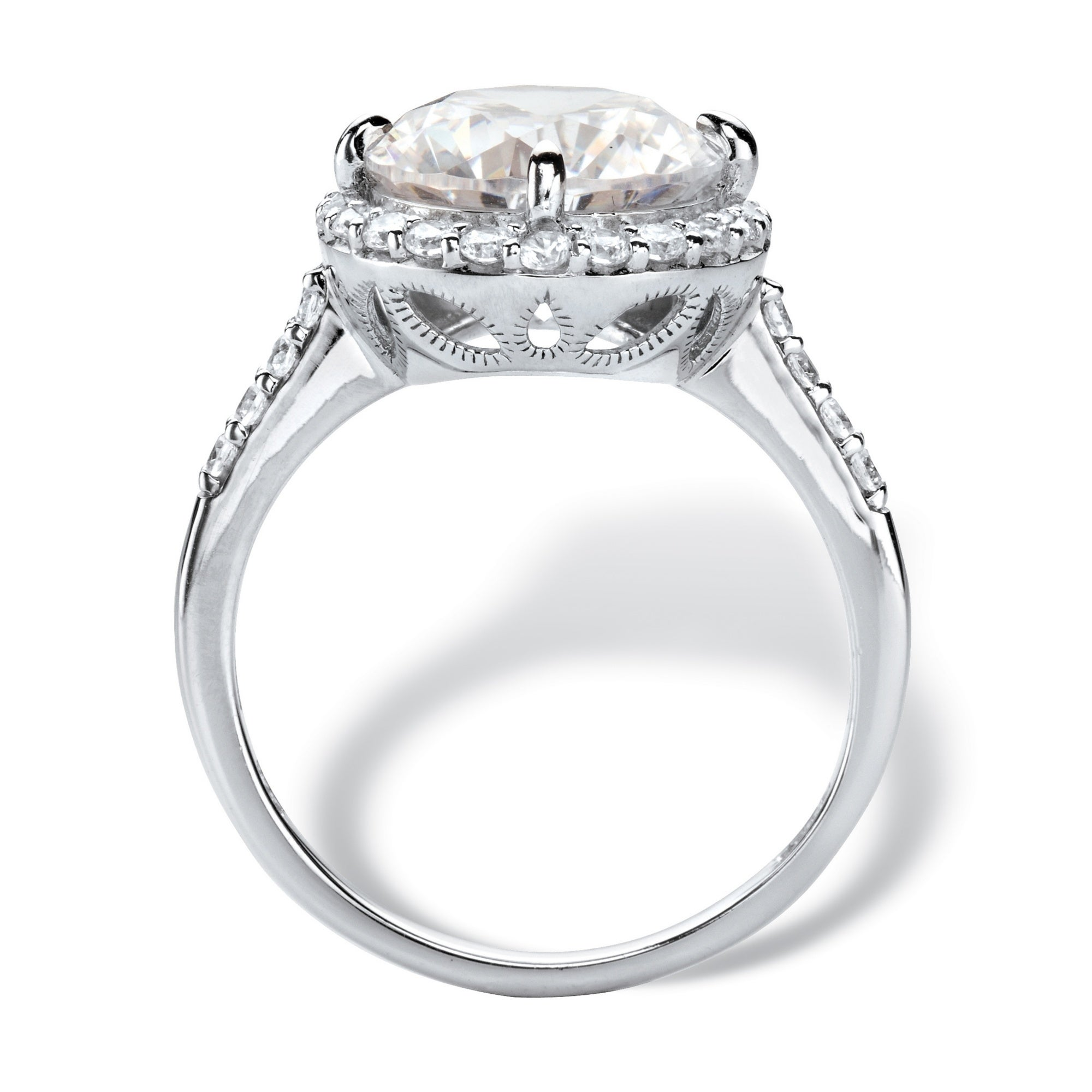 10k White Gold Cubic Zirconia Engagement Ring Overstock 14486708
