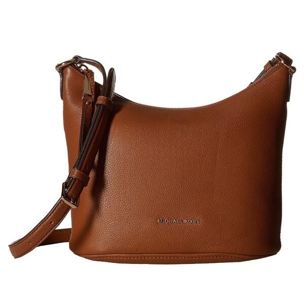 17bc329e3b49 Shop Michael Kors Lupita Medium Luggage Messenger Handbag - Free Shipping  Today - Overstock - 14487053