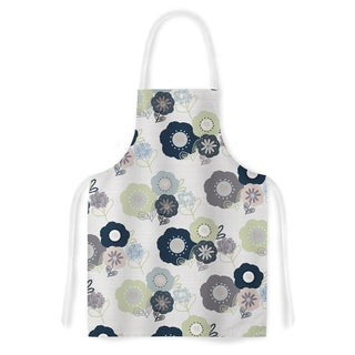 Kess InHouse Julie Hamilton 'Lemon Pod' Yellow Grey Artistic Apron