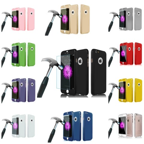 Acrylic and Tempered Glass 360-degree Protector Case for iPhone 6 and 7 Series