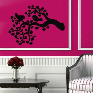 Birds On Tree Branch Wall Decor Floral Interior Home Decor Vinyl Art Wall Decor Kids Room Sticker De