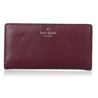 Kate Spade Cobble Hill Stacy Feather Merlot Wallet
