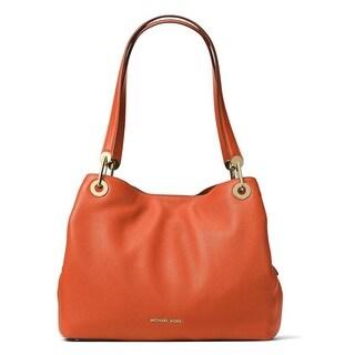 Michael Kors Raven Large Orange Shoulder Tote Bag