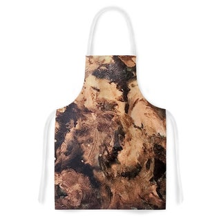 Abstract Anarchy Design 'King Midas' Brown Abstract Artistic Apron