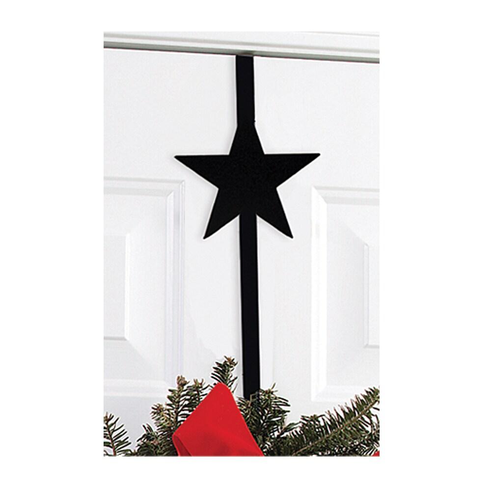 Star Black Wrought Iron Wreath Hanger (Star - Wreath Hanger)