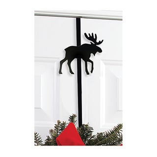 Moose Black Metal Wreath Hanger
