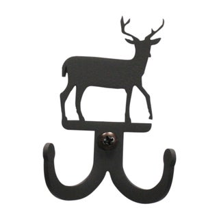Black Wrought Iron Deer Double Wall Hook