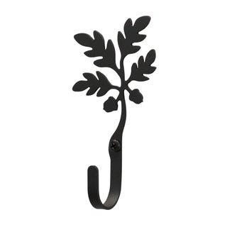 Acorn Black Wrought Iron Small Wall Hook