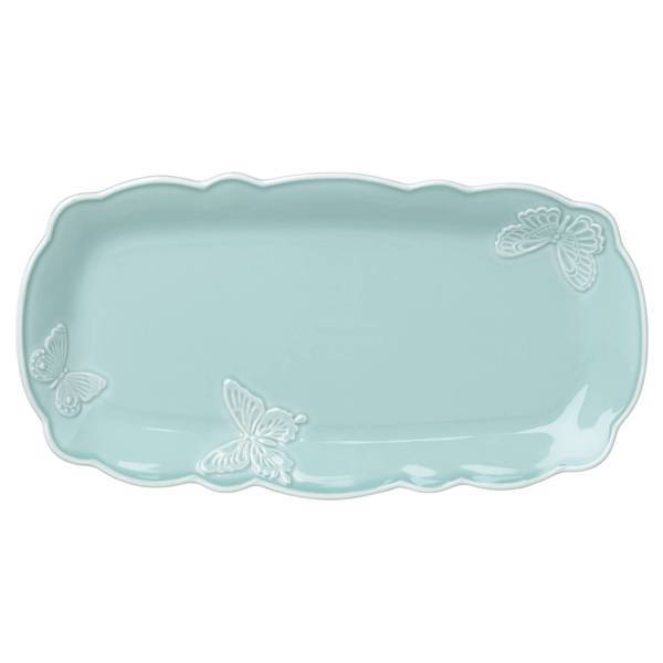 Shop Lenox Butterfly Meadow Carved Blue Hors D Oeuvre Tray