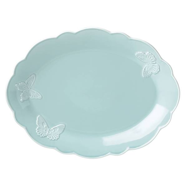 Shop Lenox Butterfly Meadow Blue 16 Inch Carved Oval