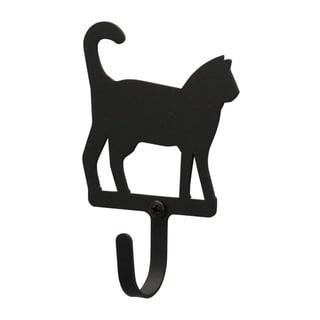 Black Wrought Iron Cat Extra-Small Wall Hook