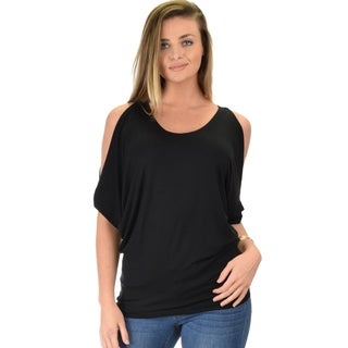 Cold Shoulder Dolman-Sleeve Tunic Top