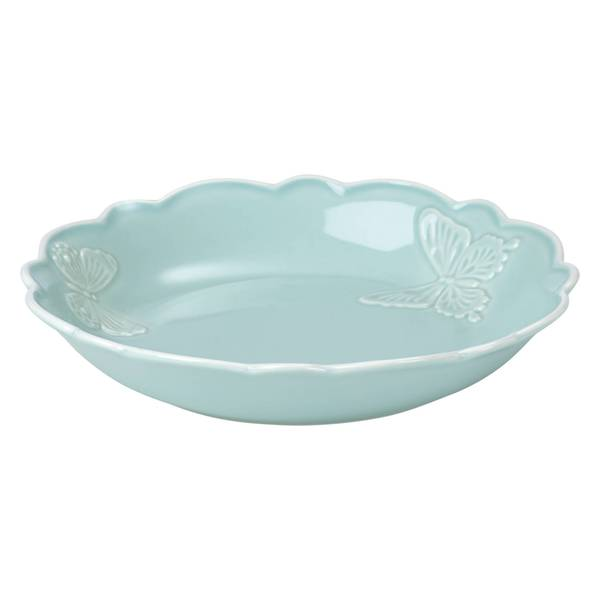 Shop Lenox Butterfly Meadow Carved Blue Pasta Bowl Free