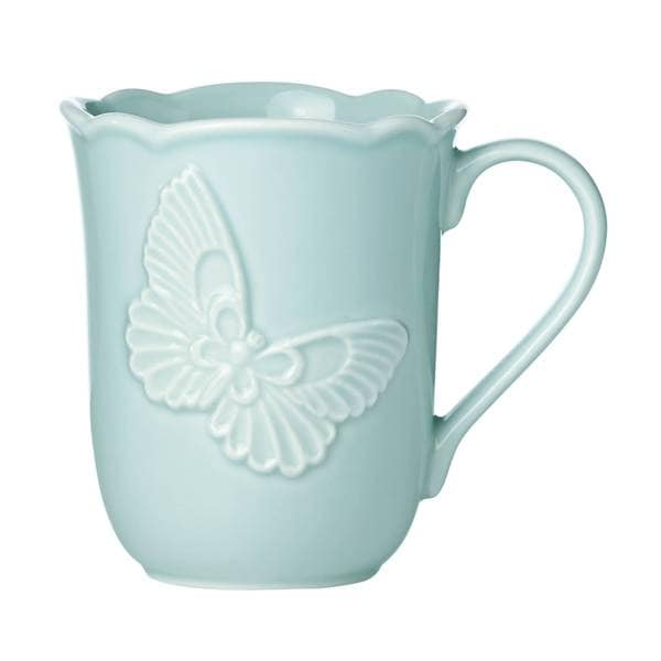 Shop Lenox Butterfly Meadow Blue Carved Mug Free