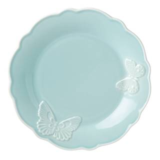 Lenox Butterfly Meadow Carved Blue Stoneware 9-inch Accent Plate