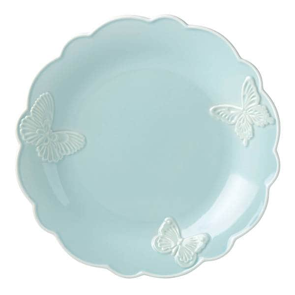 Shop Lenox Butterfly Meadow Carved Blue Stoneware 11 Inch