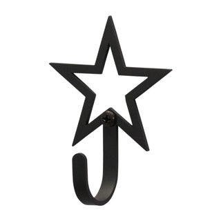 Open Star Black Wrought Iron Extra Small Wall Hook