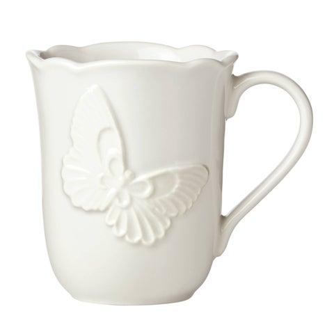 Lenox Butterfly Meadow Vanilla Stoneware Carved Mug