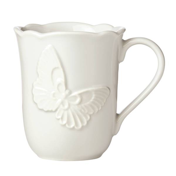 Shop Lenox Butterfly Meadow Vanilla Stoneware Carved Mug