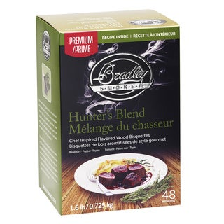Bradley Smoker Hunter's Blend Rosemary, Pepper, Thyme Bisquettes (Pack of 48)