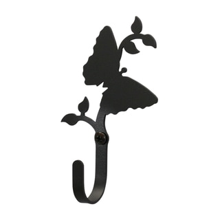 Black Wrought-iron Butterfly Extra Small Wall Hook