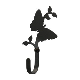 Butterfly Black Wrought Iron Small Wall Hook