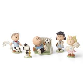 Lenox 'Peanuts' Soccer Multicolor Porcelain 5-piece Figurine Set