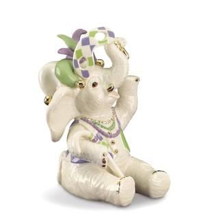 Lenox Mardi Gras Multicolored Porcelain Elephant Figurine