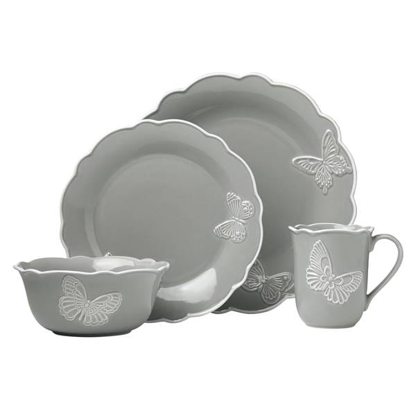 Shop Lenox Butterfly Meadow Carved Slate 4 Piece Place