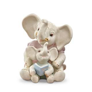 Lenox Storytime Elephants Porcelain Figurine