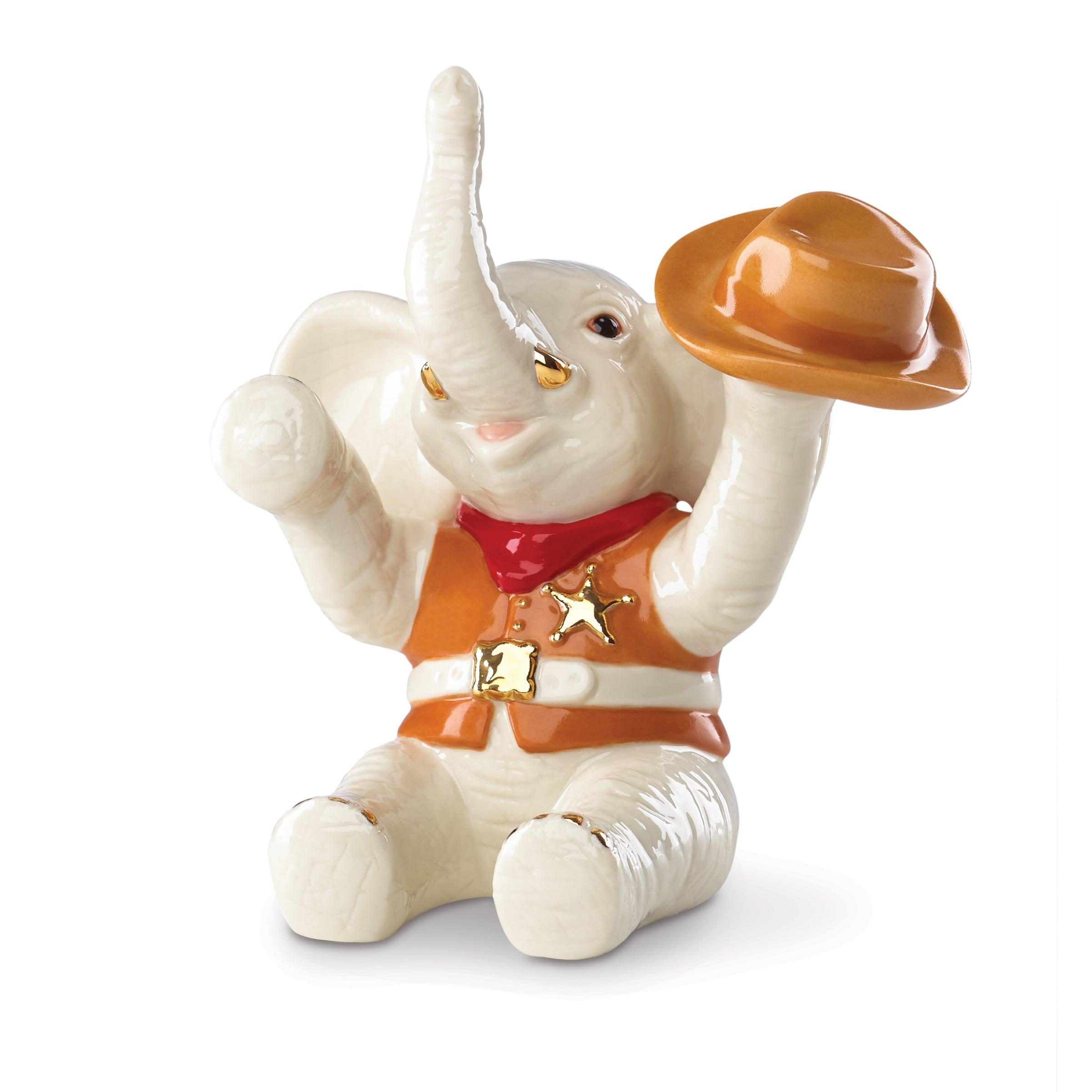 Lenox Cowboy Up Porcelain Elephant Figurine (Lenox Classi...