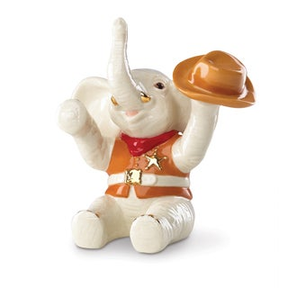 Lenox Cowboy Up! Porcelain Elephant Figurine