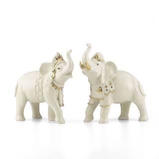 Lenox Balinese Elephant Figurine Pair