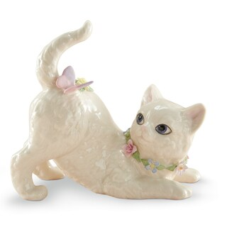 Lenox Ivory China Fluttering Friend Cat Figurine