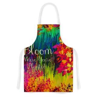 Kess InHouse Ebi Emporium 'Bloom Where You're Planted' Floral Artistic Apron