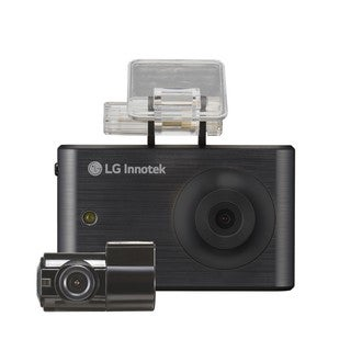 LG Innotek Black 3.5-inch 720p Touchscreen Dashcam with Front and Rear Camera (RNEK-MN31B) with 16GB storage