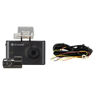 "LG Innotek Black 3.5"" 720p Touchscreen Dashcam with Front and Rear Camera (RNEK-MN31B) with Battery Protection Hardwire Kit"